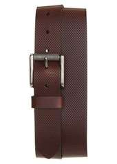 1901 Pin Dot Roller Buckle Leather Belt