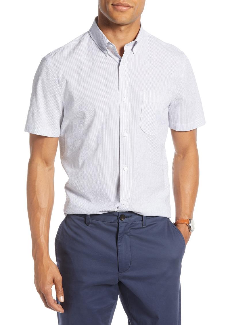 1901 Pinstripe Seersucker Slim Fit Sport Shirt