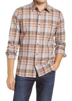 1901 Plaid Slim Fit Flannel Button-Up Shirt