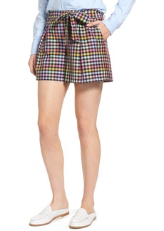 1901 Pleated Plaid Bow Tie Shorts