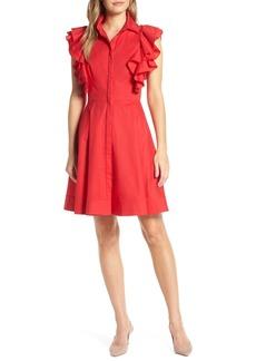 1901 Ruffle Sleeve Fit   Flare Dress (Regular   Petite) 23593116f