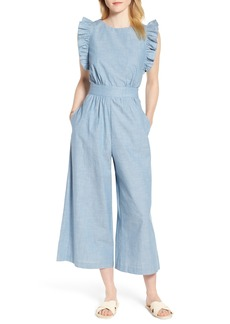 1901 Ruffle Sleeve Jumpsuit (Regular & Petite)