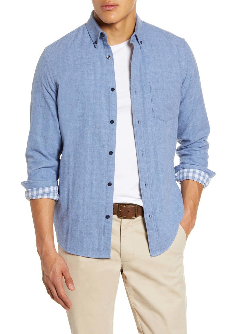 1901 Slim Fit Double Weave Button-Down Shirt