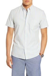 1901 Slim Fit Stripe Short Sleeve Button-Down Shirt