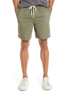 1901 Slub Elastic Waist Slim Fit Shorts