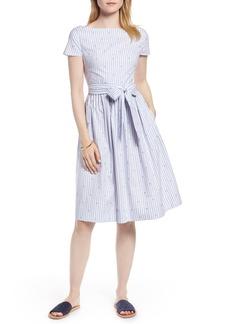 1901 Stripe & Dot Cotton Dress (Regular & Petite)