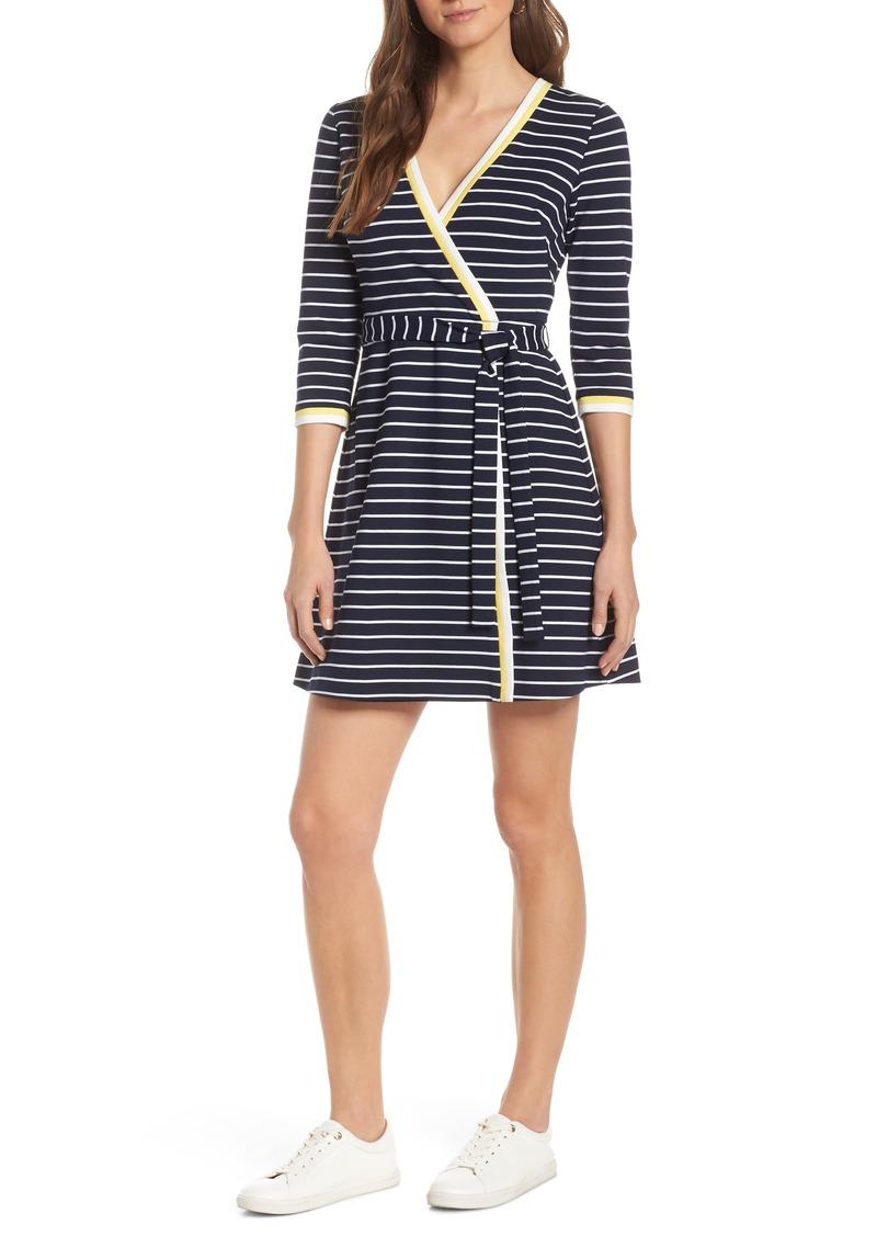 5e637e10c15 Stripe Faux Wrap Dress (Regular & Petite)