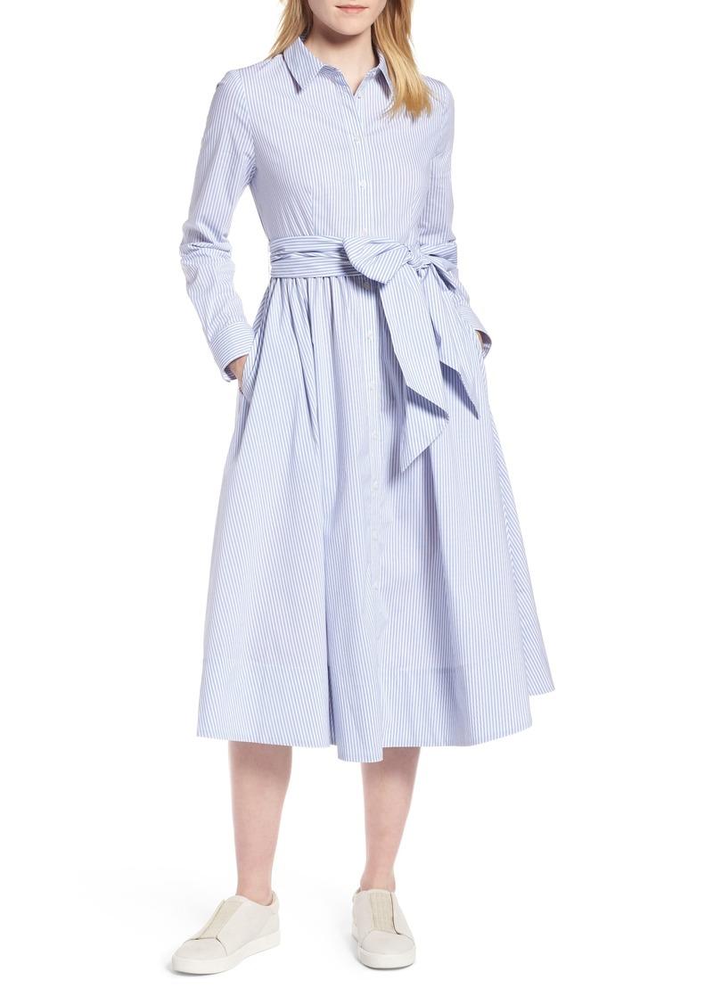 ea1dada4fc0e On Sale today! 1901 1901 Stripe Midi Shirtdress (Regular   Petite)