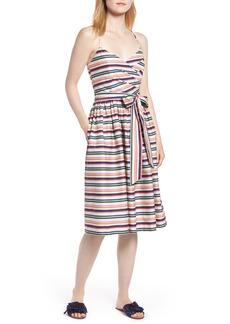 1901 Stripe Strappy Cotton Dress