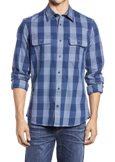 1901 Trim Fit Buffalo Check Stretch Flannel Button-Up Shirt