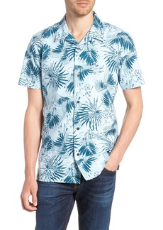 1901 Trim Fit Palm Print Camp Shirt