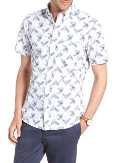1901 Trim Fit Palm Print Sport Shirt