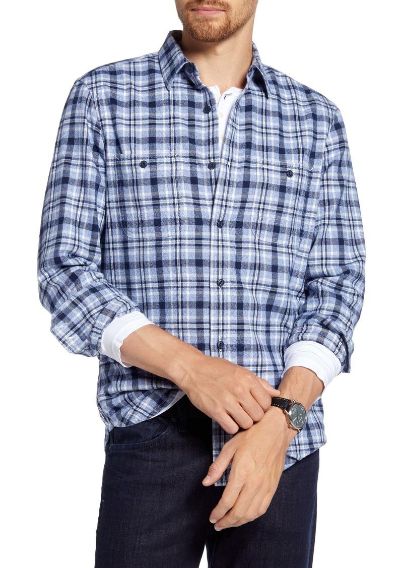 1901 Trim Fit Plaid Flannel Button-Up Shirt