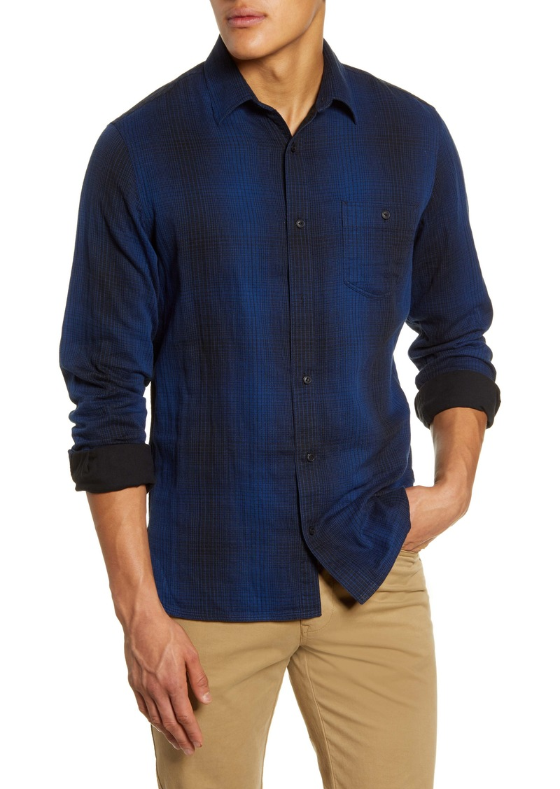 1901 Trim Fit Plaid Twill Button-Up Utility Shirt