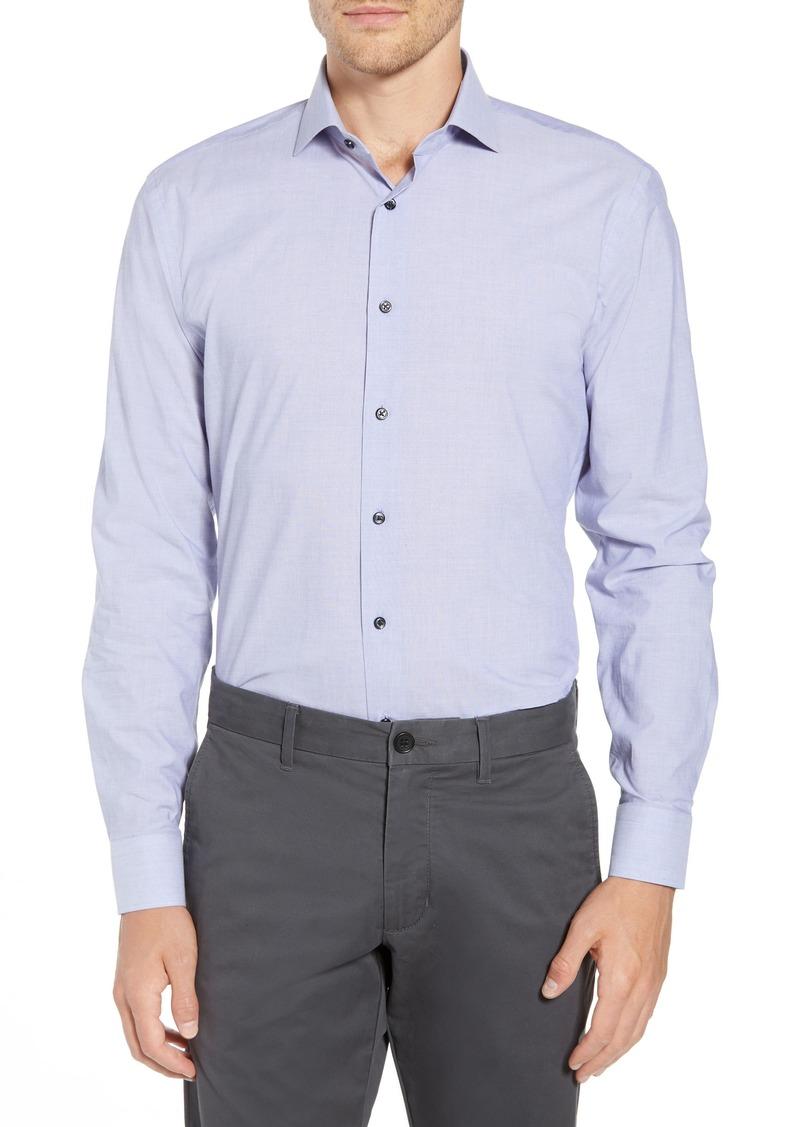 1901 Trim Fit Solid Dress Shirt
