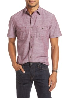 1901 Trim Fit Solid Short Sleeve Button-Up Shirt