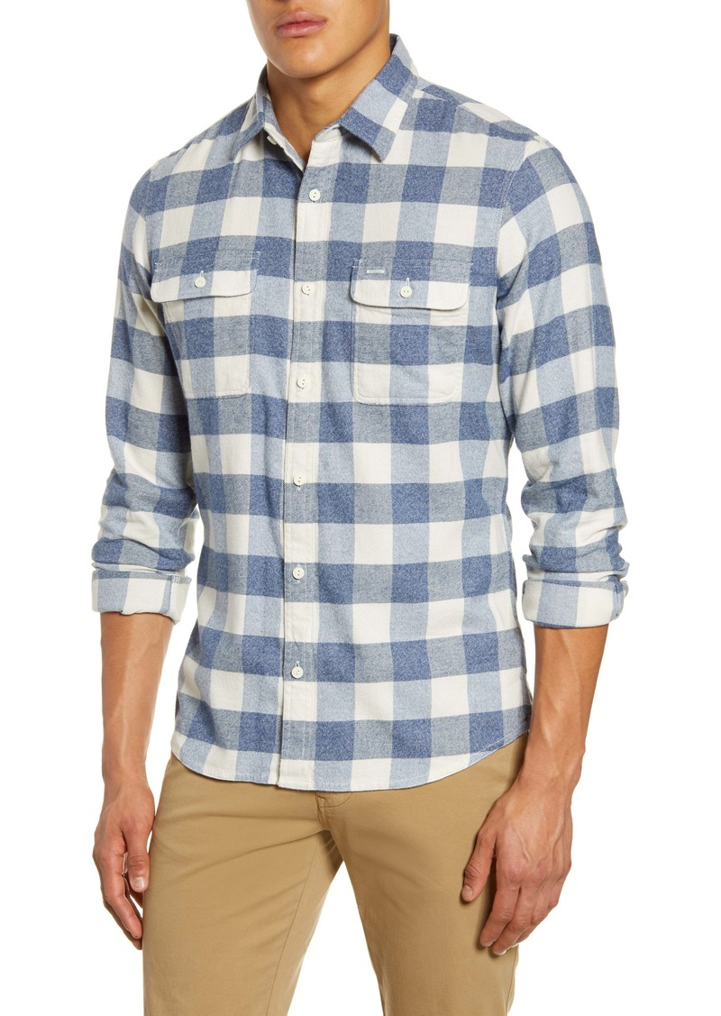 1901 Trucker Slim Fit Buffalo Check Button-Up Flannel Shirt