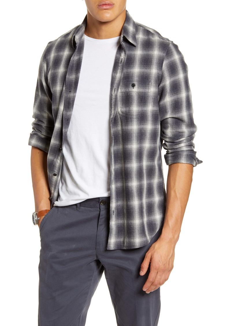 1901 Utility Trim Fit Plaid Flannel Button-Up Shirt