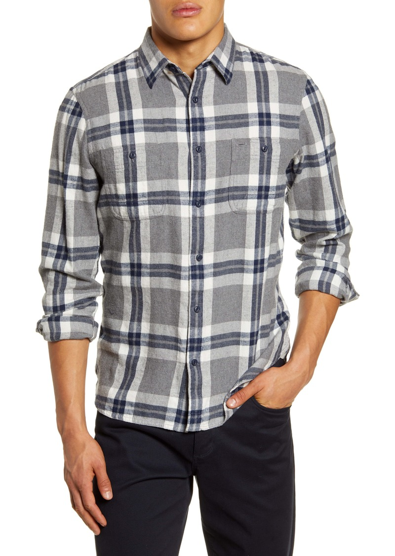 1901 Workwear Slim Fit Plaid Button-Up Flannel Shirt