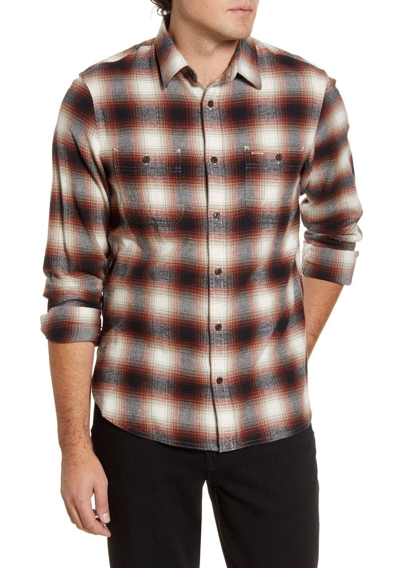 1901 Workwear Trim Fit Plaid Button-Up Shirt