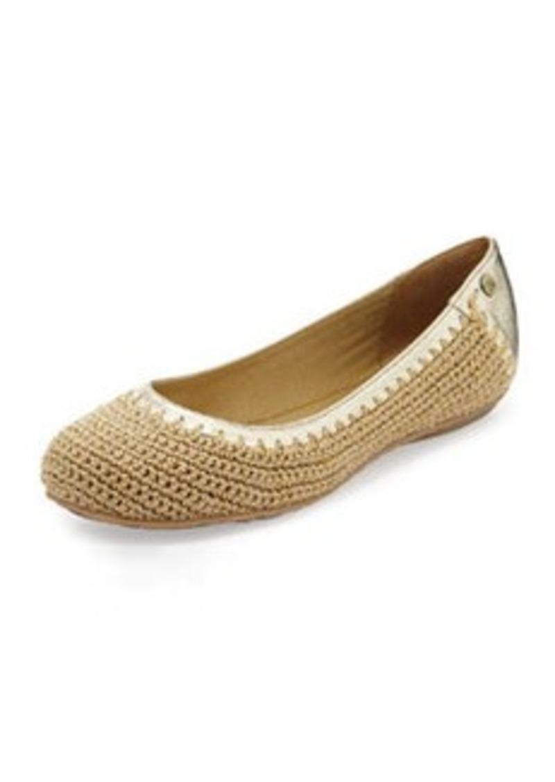 The Sak Frannie Slip-On Crochet Flat, Bamboo Sparkle