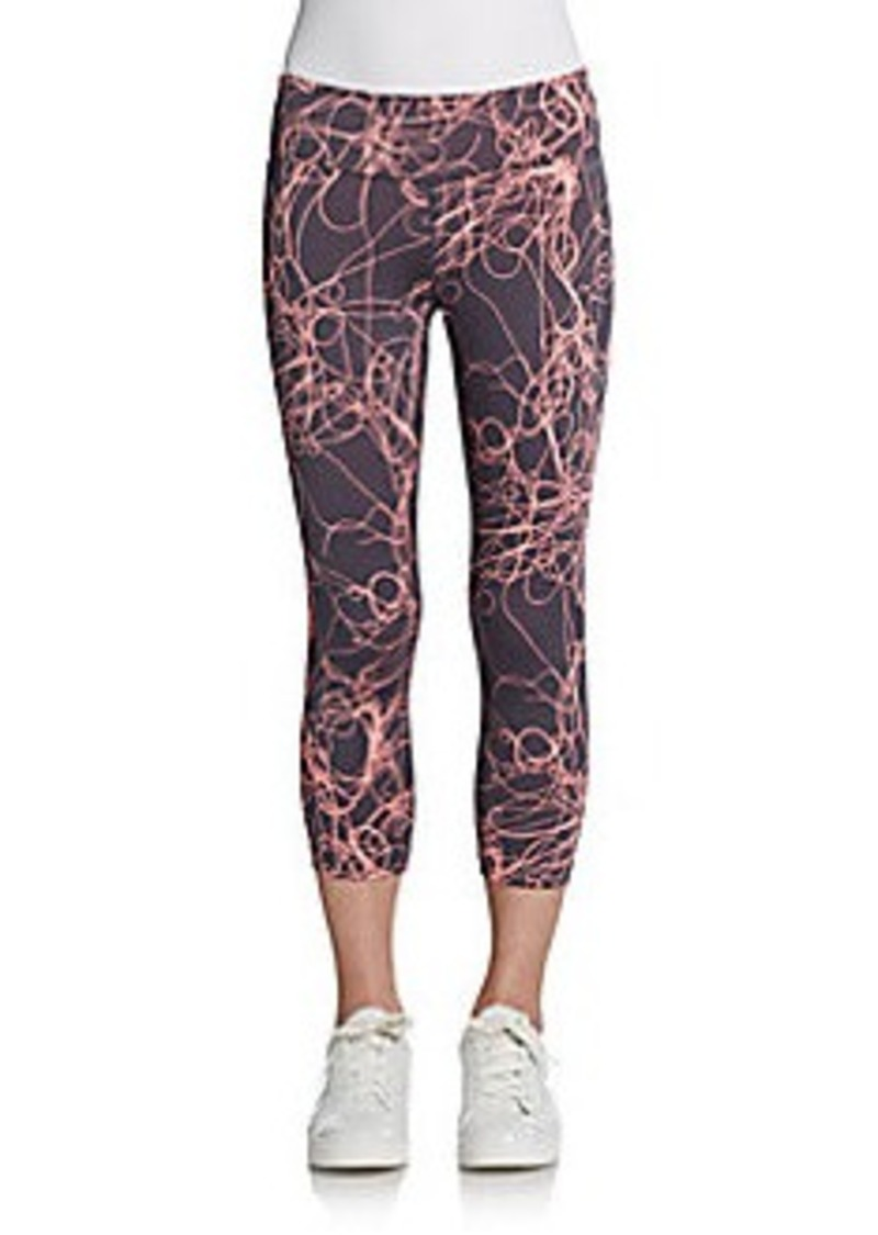 Calvin Klein Performance Printed Shirred Cropped Leggings