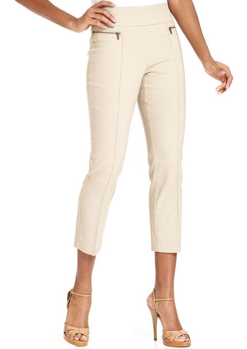 Style&co. Style&co. Petite Zip-Pocket Pull-On Capri Pants ...