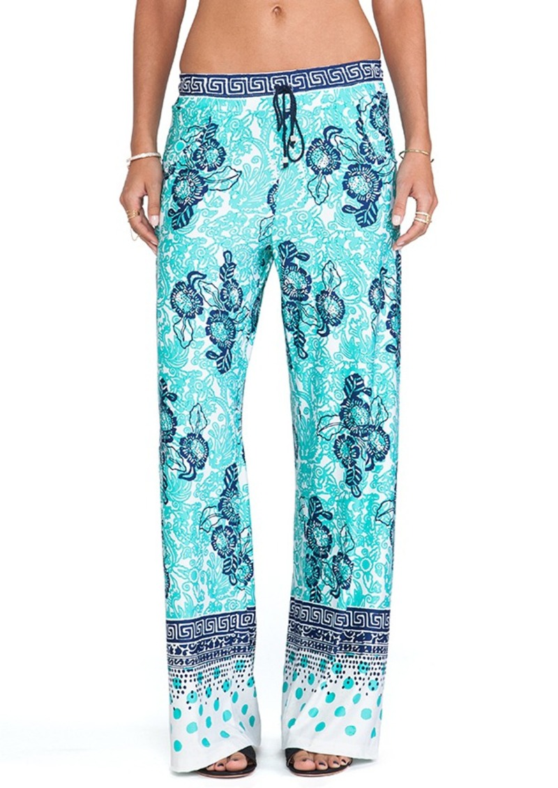 Nanette Lepore Batiki Print Beach Pants in Teal