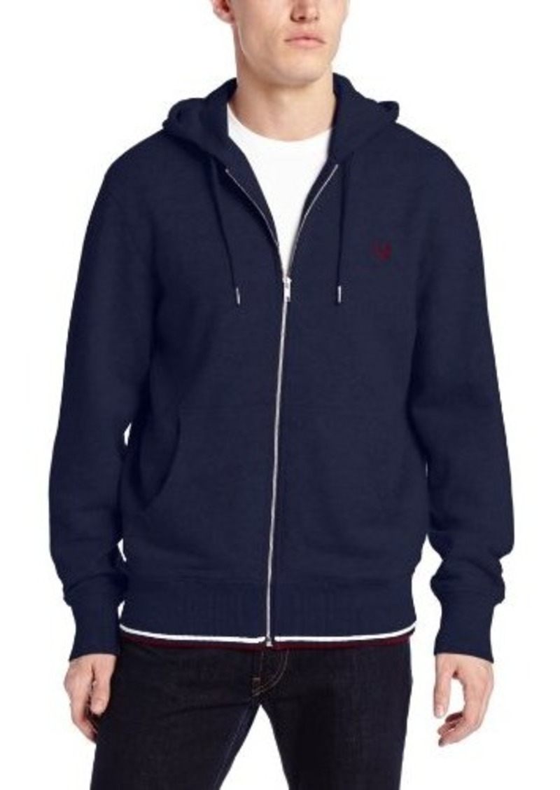 fred perry fred perry men 39 s tipped full zip hoodie sweatshirt outerwear shop it to me. Black Bedroom Furniture Sets. Home Design Ideas