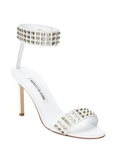 Manolo Blahnik Studded Rocco Ankle-Band Sandal