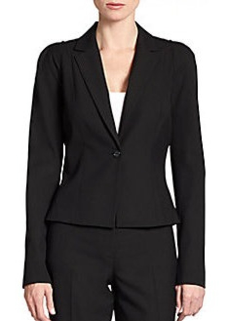 Tahari Tailored One-Button Jacket