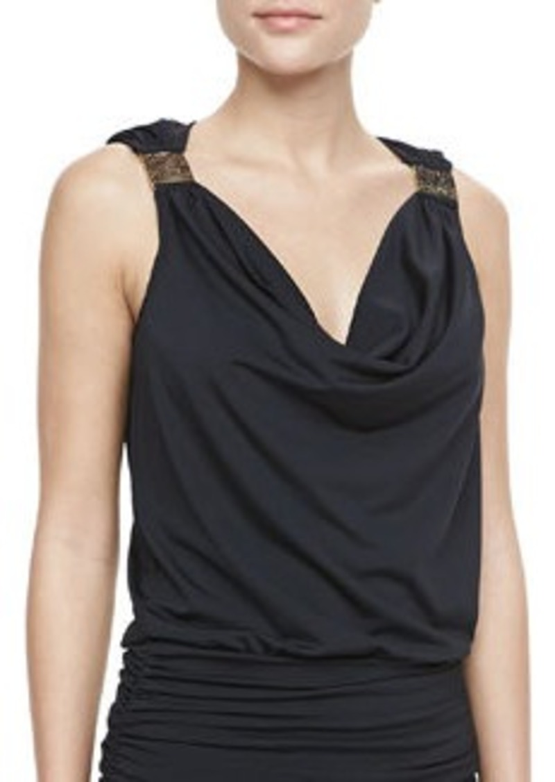 Carmen Marc Valvo Cape Town Draped Tankini Top