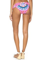 Mara Hoffman Jungle Trip Ruched Side Bikini Bottoms