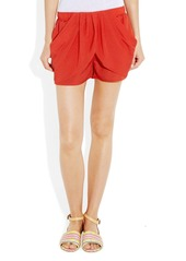 T-Bags Draped crepe shorts