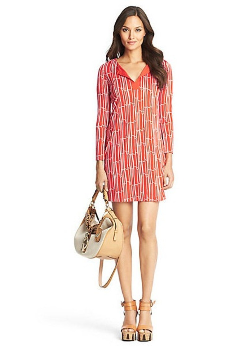 Diane Von Furstenberg New Reina Two Silk Jersey Tunic Dress