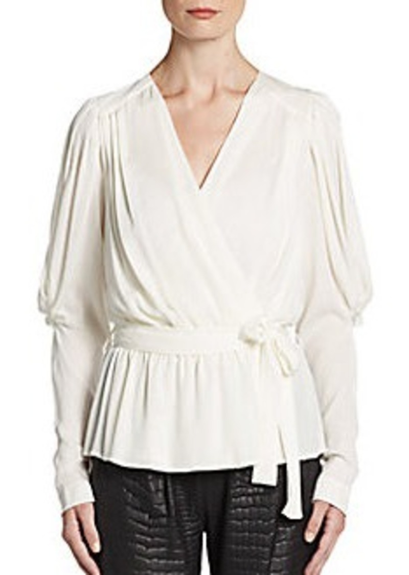 Catherine Malandrino Courtney Silk Blouson Top