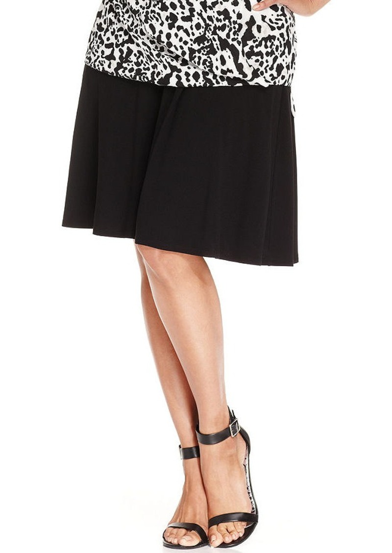 Alfani Plus Size Skater Skirt