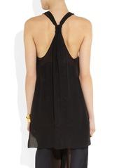 Emilio Pucci Layered embellished silk-chiffon top