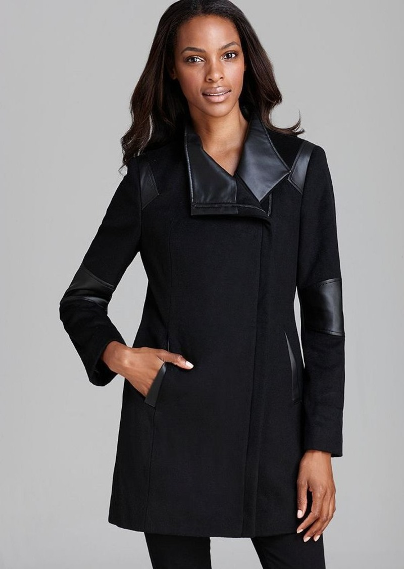 Calvin Klein Coat - Asymmetric Mixed Media