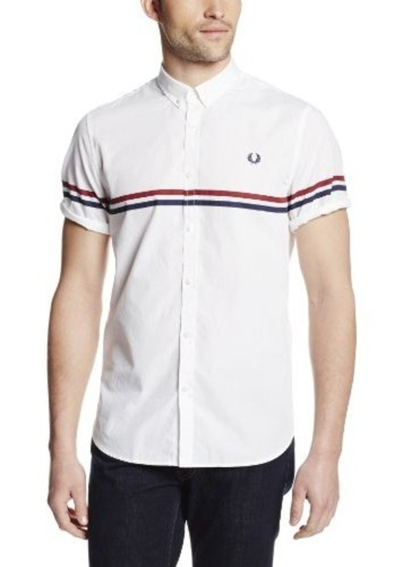 fred perry fred perry men 39 s tipped two tone shirt casual shirts shop it to me. Black Bedroom Furniture Sets. Home Design Ideas