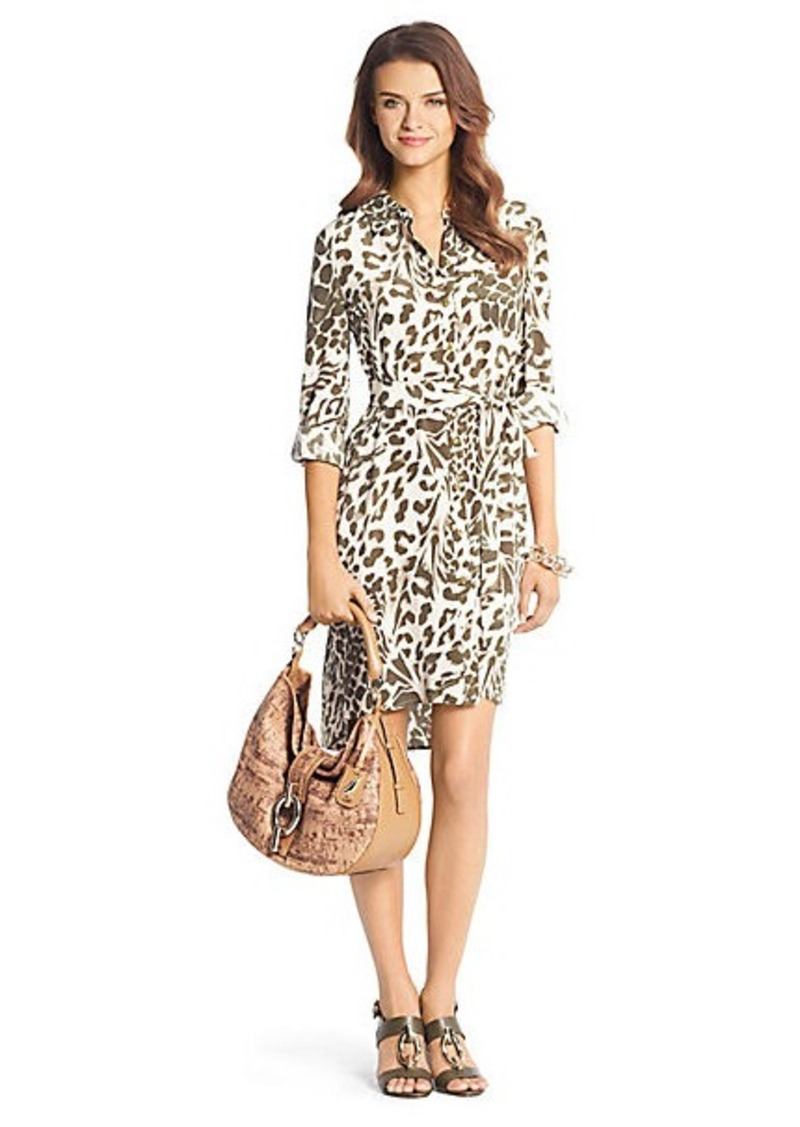 Diane Von Furstenberg Prita Printed Silk Shirt Dress