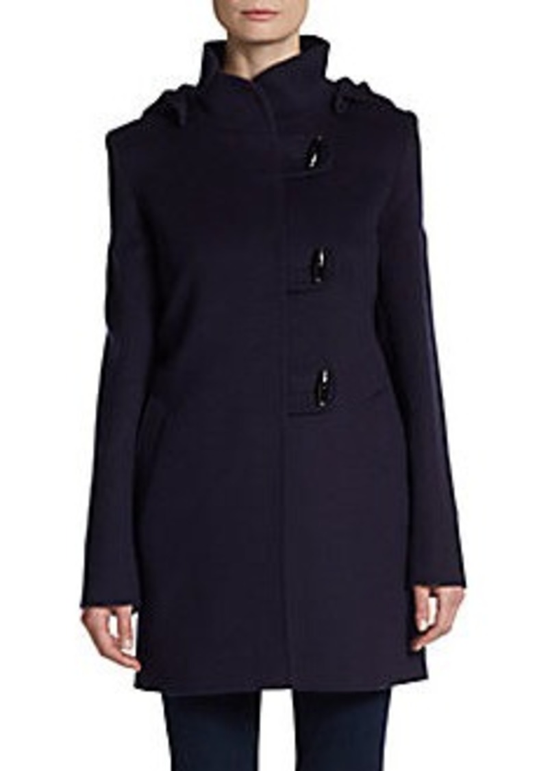 Cinzia Rocca Hooded Toggle-Close Wool Coat