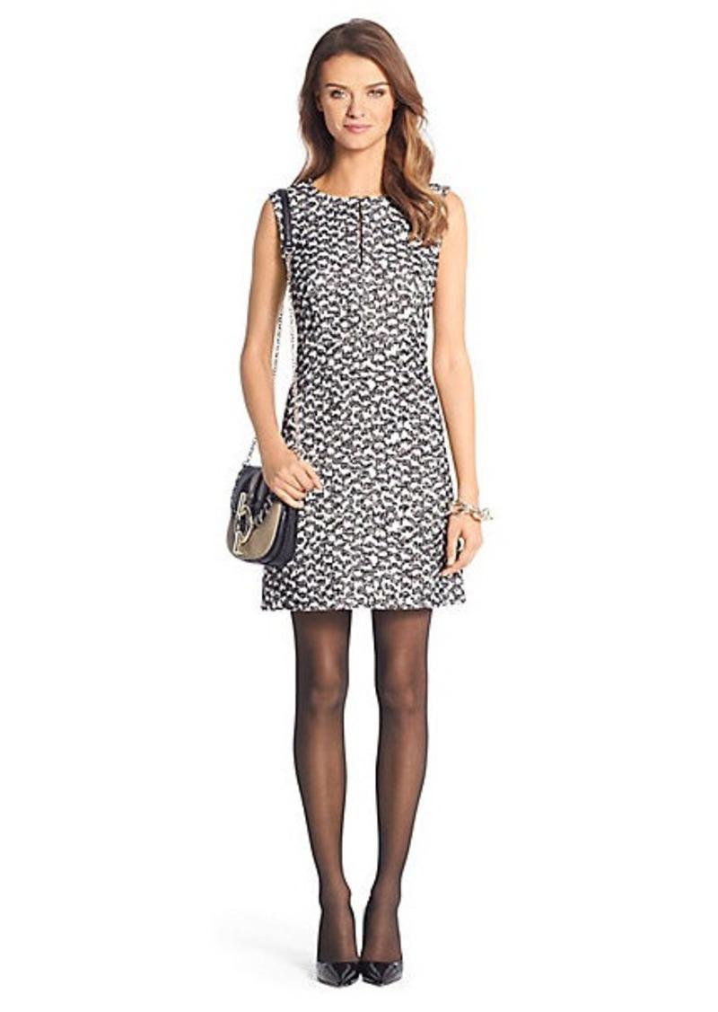 Diane Von Furstenberg Yvette Tweed A-Line Mini Dress