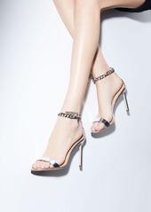 Manolo Blahnik Chaos Metallic Chain-Wrap Sandal