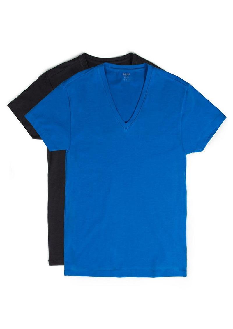 2(x)ist 2XIST 2 pack Stretch-Cotton V-Neck T-Shirt