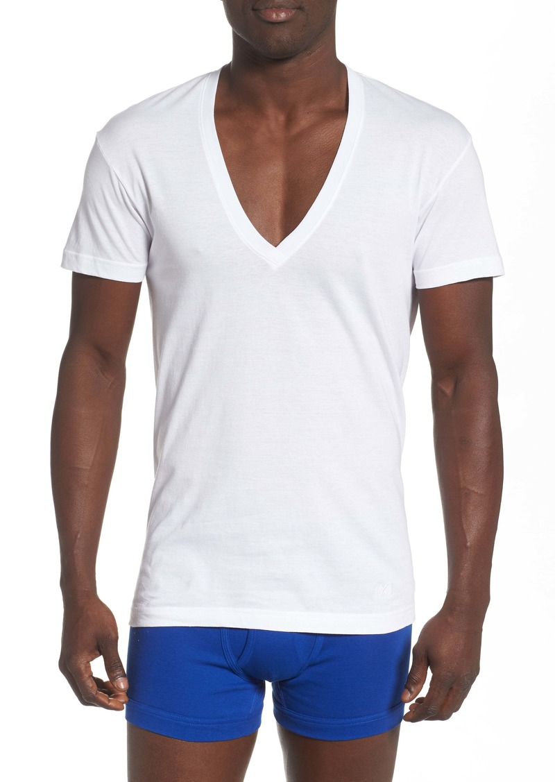 2(x)ist 3-Pack Slim Fit Deep V-Neck T-Shirt