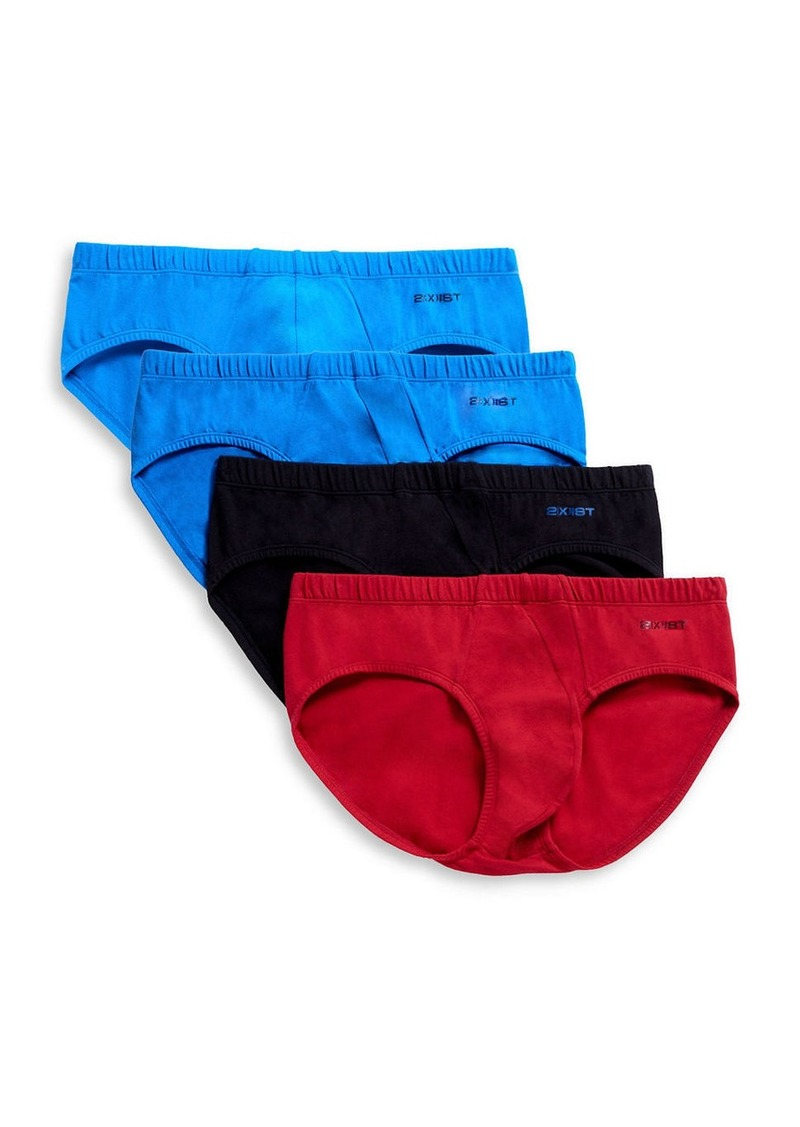 2(x)ist 2XIST Four-Pack Low-Rise Briefs