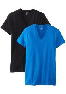 2(X)IST Cotton Stretch 2 Pack V-Neck T-Shirt