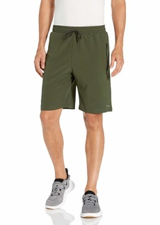 2(X)IST Men's Active Stretch Trainer Shorts with Zipper Pockets