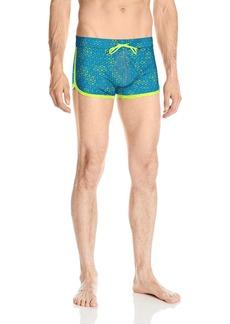 2(X)IST Men's Cabo Jogger Swim Trunk Swimwear geo Box Print Blue SM